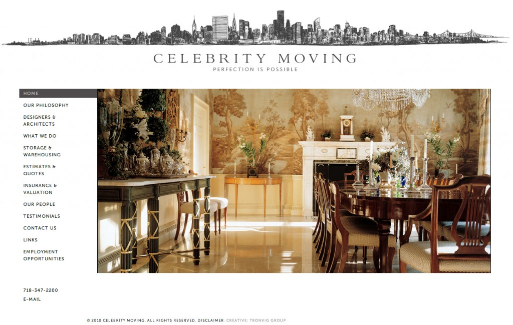 Celebrity Moving Website