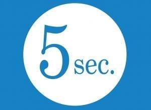 5 seconds web design