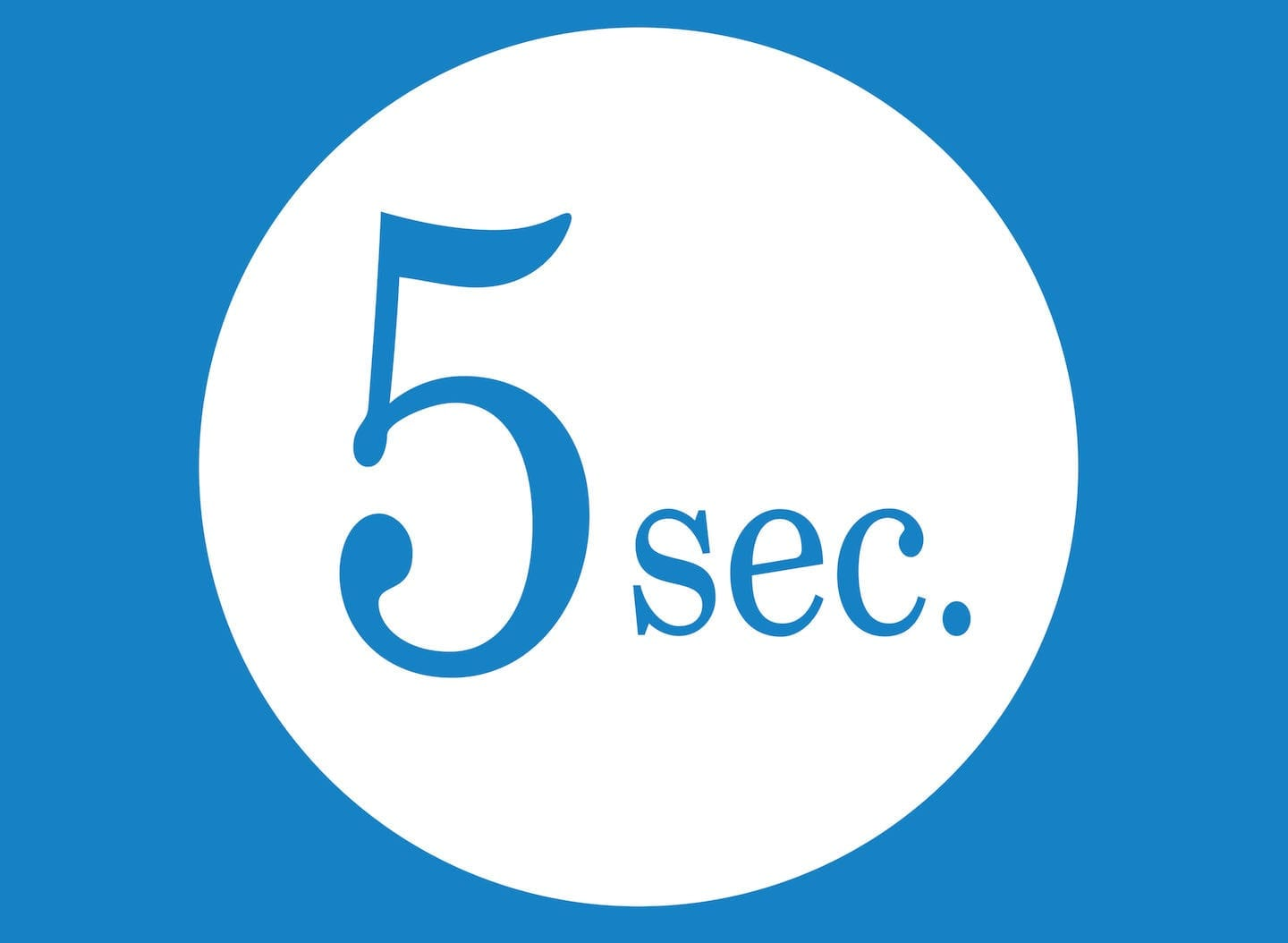 5 seconds web design