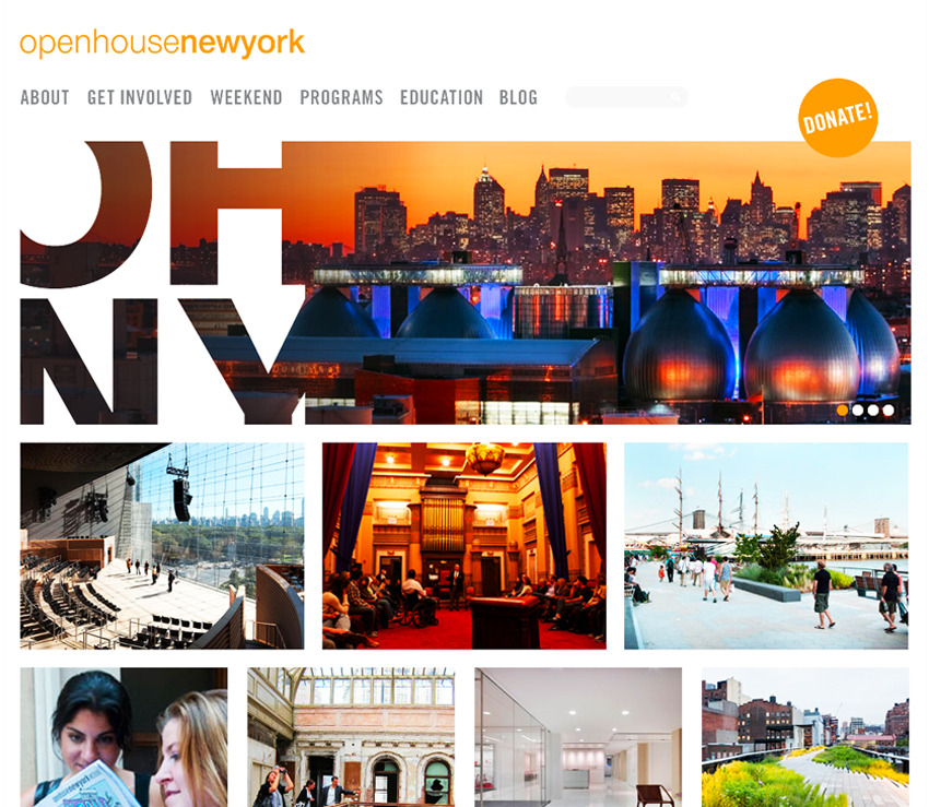 Open House New York Website, Tronvig Group