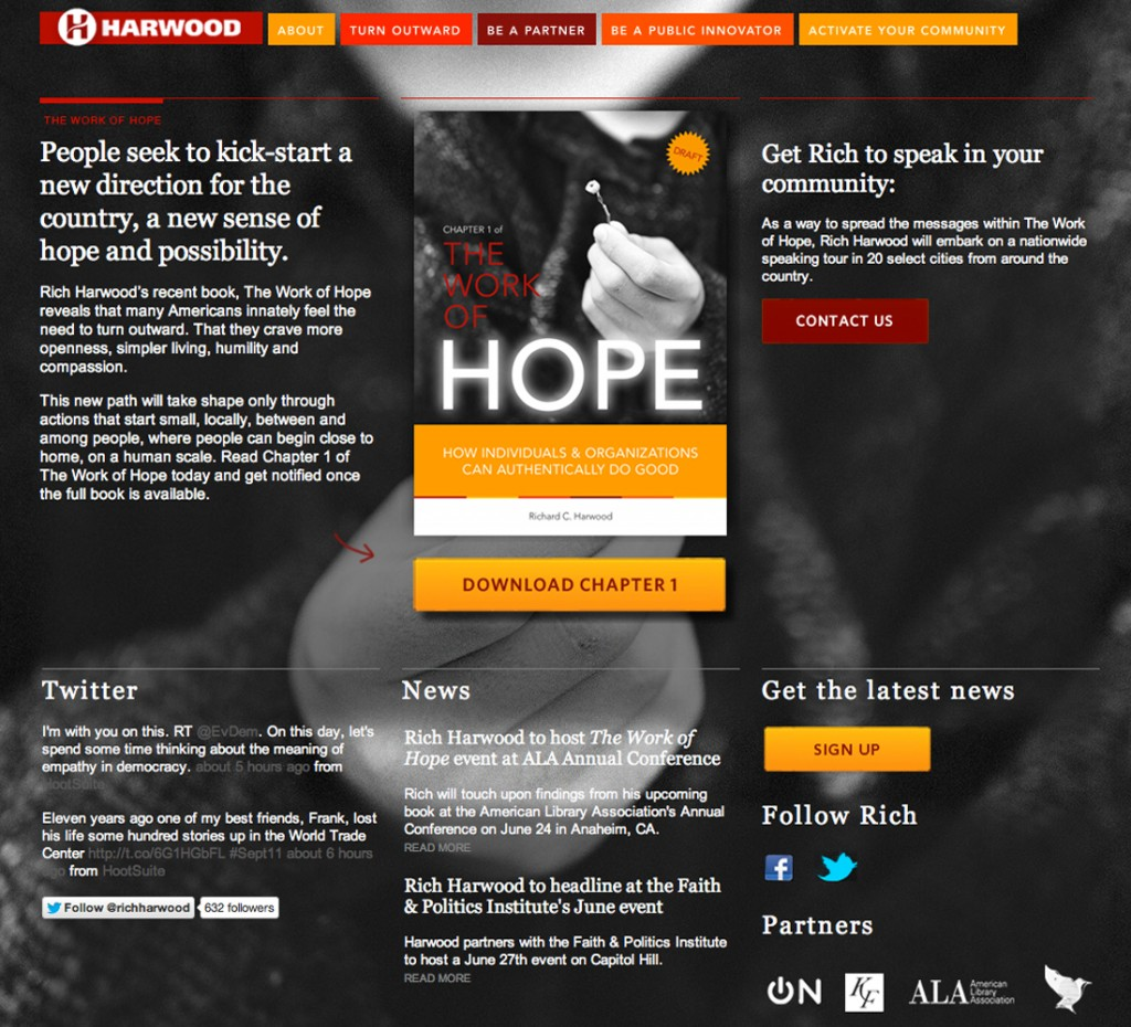 The Work of Hope Microsite