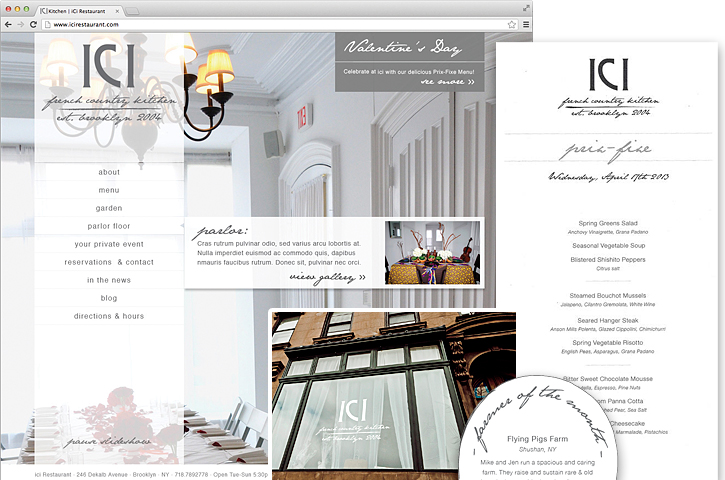 ICI Restaurant, French Country Kitchen, Tronvig Group