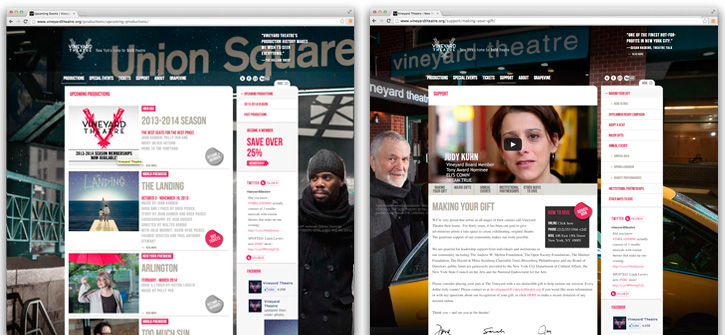 Vineyard Theatre Website