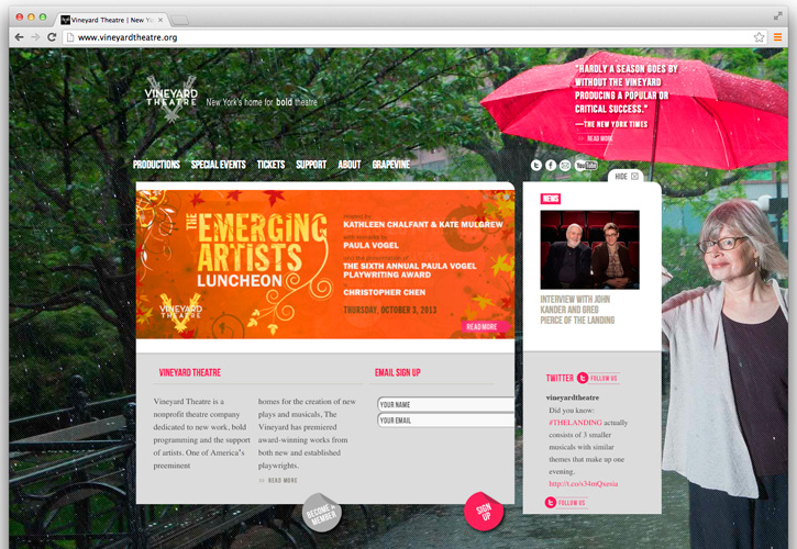 Vineyard Theatre Website, Tronvig Group