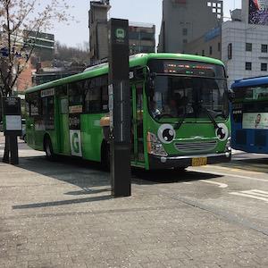 korean cute bus