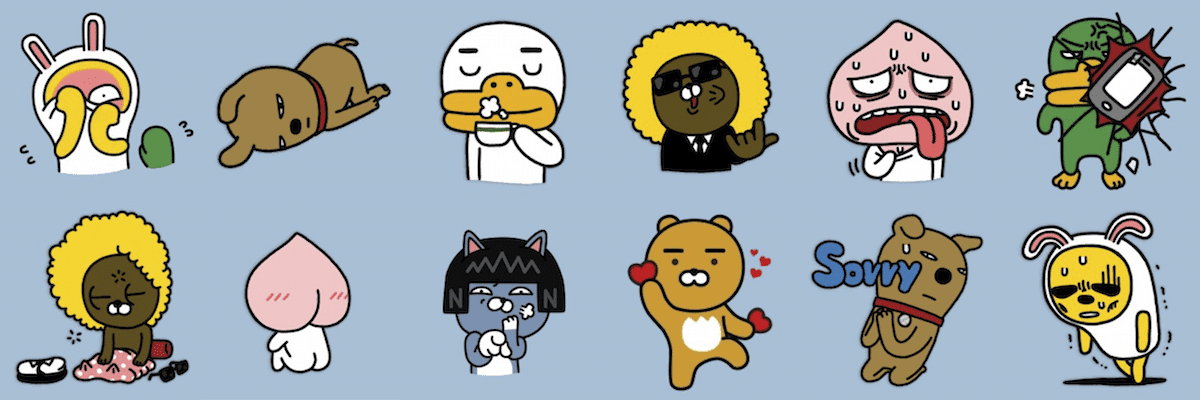 cuteness kakao friends; cuteness and culture
